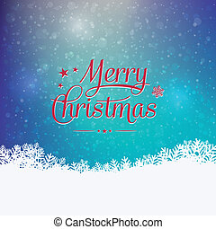 merry christmas colorful winter sno