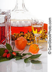 Rowanberry homemade liquer - Rowanberry homemade liquor in...