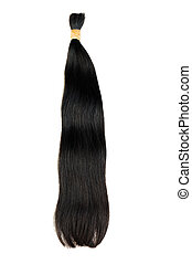 Dark hair extensions - Extensions for dark hair isolated on...