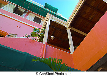 Tropical architecture - Various fragment of tropical...
