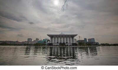 Mosque and Lake Timelapse - Iron Mosque and lake timelapse...