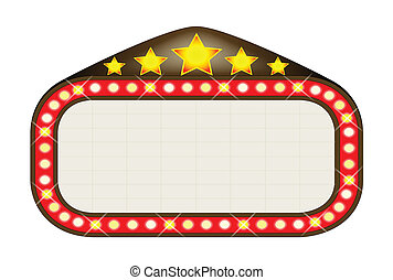 Cinema Marquee - A blank movie theatre or theatre marquee