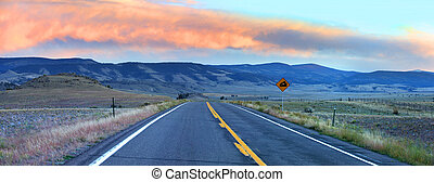 Scenic high way - Panoramic view of scenic high way in...