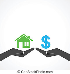 save home and money concept - Illustration of save home and...
