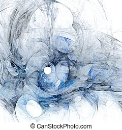 Abstract fractal blue on the white background