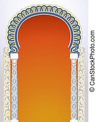 Floral arch design - Vector illustration of high detailed...