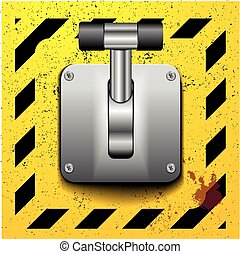 Lever switch - detailed illustration of a lever in upright...