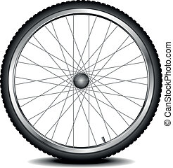 bike wheel - detailed illustration of a bicycle wheel, eps...