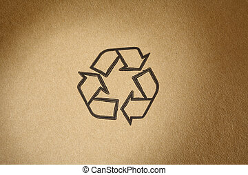 Recyclable Symbol - Recyclable universal symbol, printed on...