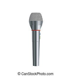Microphone, isolated on white