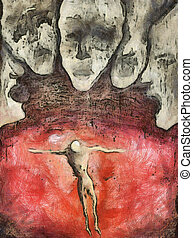Hell Are The Others - Abstract painting - Hell Are The...