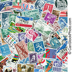 Stamps - Old cancelled stamps from United States