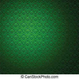 Green Stripe Seamless Wallpaper Vector Illustration