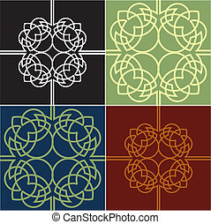 Colour Ornate Quads Four Variants