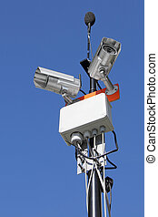 Security system - Cameras and microphone, audio and video...