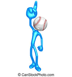 Number One Baseball Fan - 3D Concept And Presentation Figure