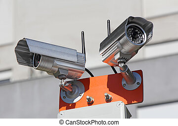 Security cameras - Two security cameras for monitoring...