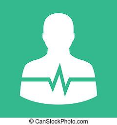 Vector Man Cardiogram Icon