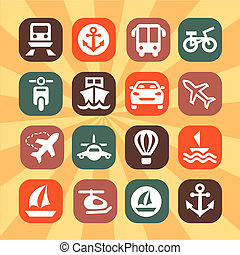 color transportation icons