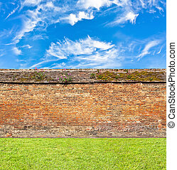 brick wall horizontal endless seamless pattern
