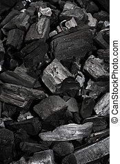 Charcoal - Pieces of black charcoal