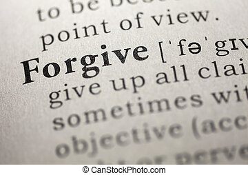 Forgive - Dictionary definition of the word Forgive