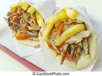 Gyros Pita, mediterranean street food