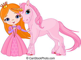 Beautiful princess and unicorn - The Beautiful princess and...