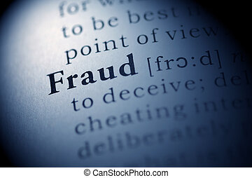 Fraud - Fake Dictionary, Dictionary definition of the word...