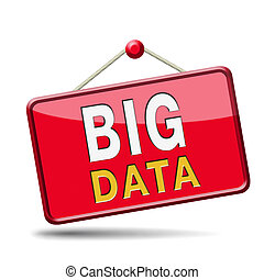 big data icon - big data storage and analytics in the cloud...
