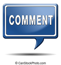 comment icon - Comment sign or icon, feedback on blog and...