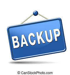 backup icon or sign - Backup data and software on copy in...