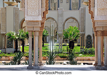 King Hassan II Mosque, Casablanca, Morocco - Garden in the...
