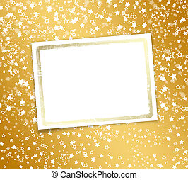 Greeting card with frame on a beautiful background with...