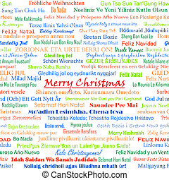 Christmas seamless pattern for background made from wishes...