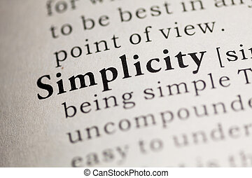 Simplicity - Fake Dictionary, Dictionary definition of the...