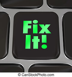 Fix It Computer Key Repair Instructions Advice - A black...