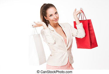Christmas shopping - Portrait of a fashionable gorgeous...