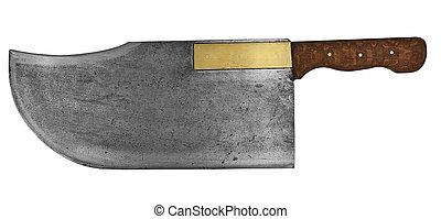 vintage butcher knifr