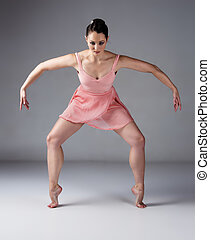 Female ballet dancer - Beautiful female ballet dancer on a...