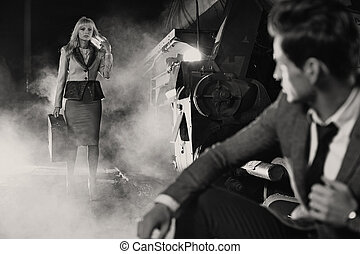 foto,  black&white, riunione, classico