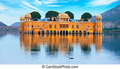 Water Palace at day - Jal Mahal Rajasthan, Jaipur, India -...