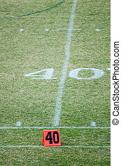 football field 40 twenty yard line marker