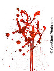 Red Spatter - Red spatter on white surface