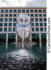 Metalmorphosis Mirror Fountain by, David ?erný in charlotte,...