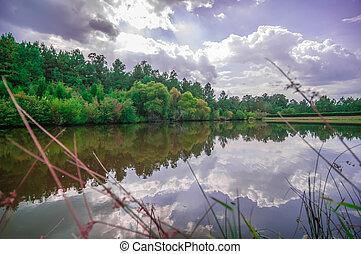 beautiful lake reflections