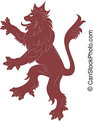 Heraldry red  Lion