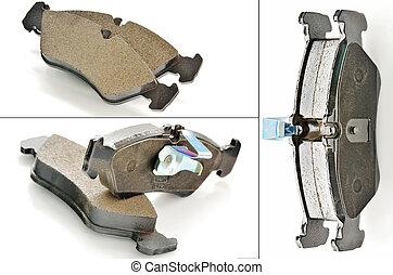 Car brake pads shoot in studio