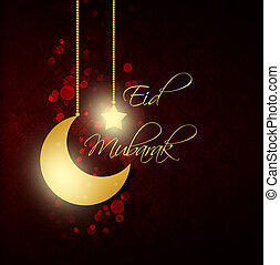 abstract background with eid mubarak greeting for Eid...