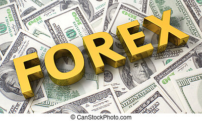 Forex on the dollar background - Word Forex on the...
